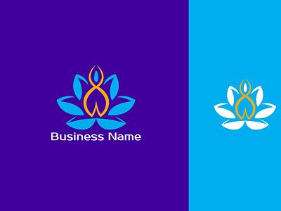 Yoga Wellness Logo iconiclogo fitnesslogo yogagirl wellnesslogo vector icon design branding modernlogo minimalistlogo logo logotype