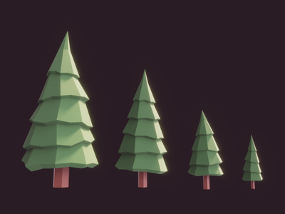 Some Lowpoly Fir Trees tree fir gaming game indiedev gamedev unity3d unity blender3d blender lowpoly 3d