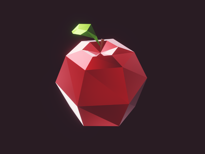Just an Apple gamedev indiedev unity unity3d blender3d blender game gaming apple red 3d lowpoly