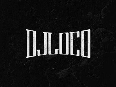 DJLOCO typography mark logo lockup deejay loco branding grunge music dj