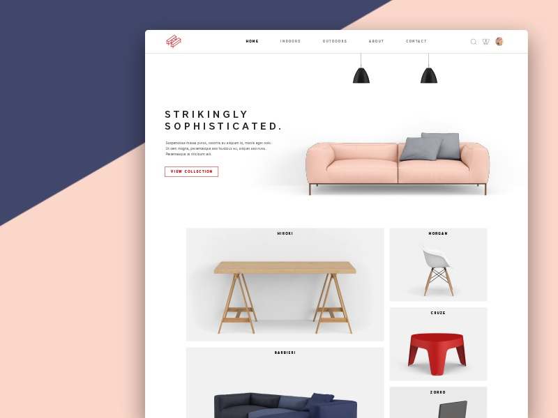 H Ecommerce Store shopping typography layout ecommerce website store minimalist ux ui meterial furniture
