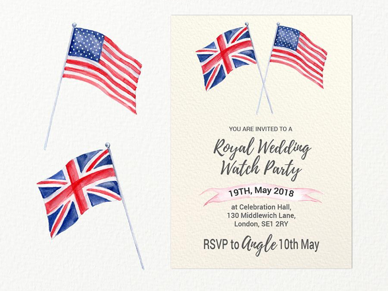 Royal Wedding Party Invitation Template Free Download By Chengjing
