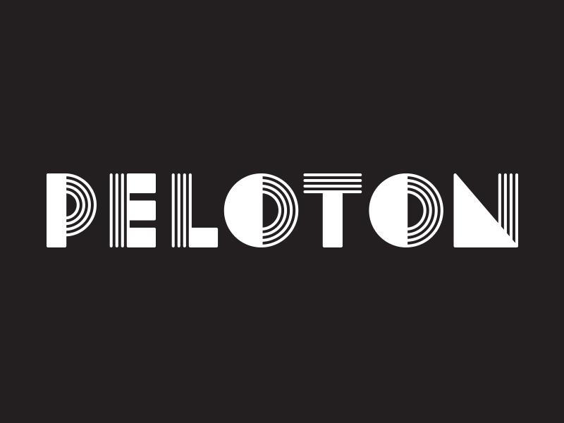 Peloton Logo retro letters shapes lines vintage logo