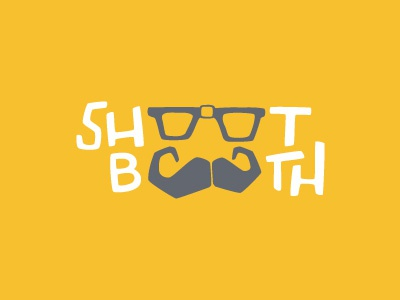 Shoot Booth Logo shoot booth photo photography mustache glasses