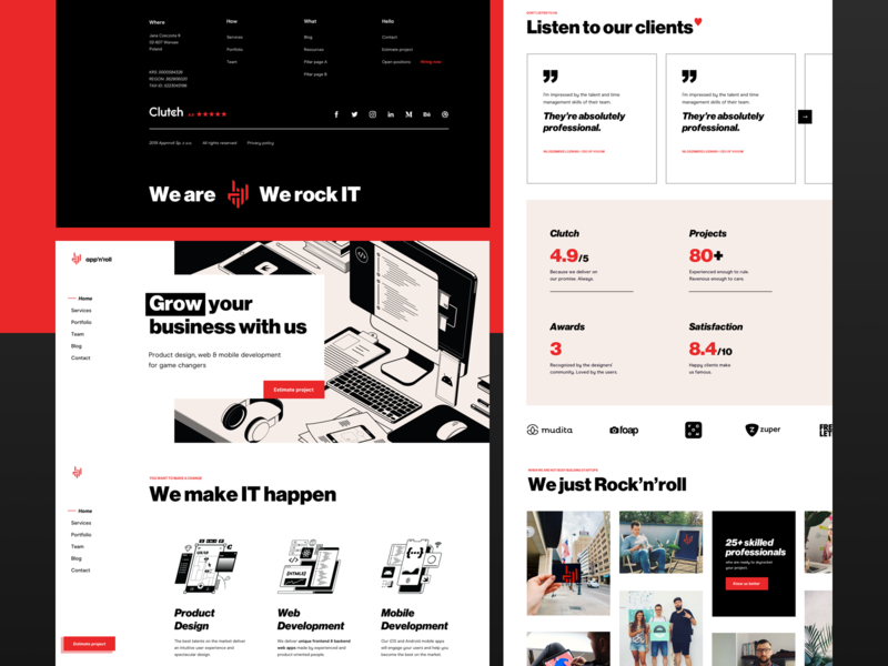 App'n'roll – new website bold typography swiss brutalism homepage website webdesign web ux ui