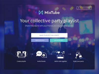 Mixtube Landing Page