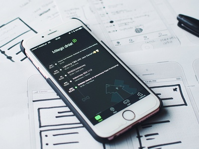 From UX to UI Design ios iphone application app mobile ux ui wireframe blogpost blog