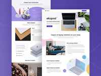 ekopad™ product launch - product page