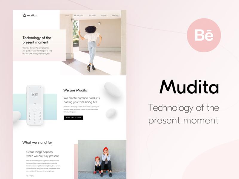 Mudita.com – Behance Case Study product page interface product case study desktop web landing page home page behance webdesign website ux ui