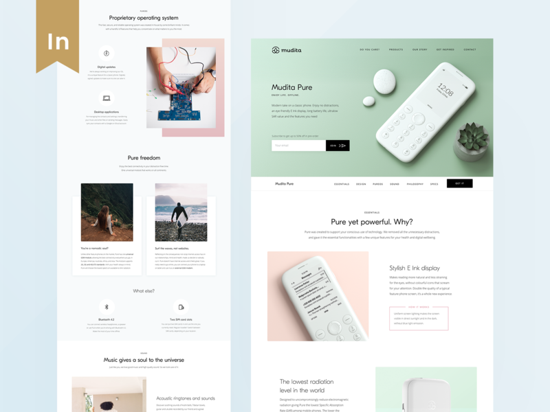 Mudita.com – Pure Product Page
