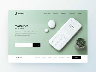 Mudita.com – Pure Product Page • Animation