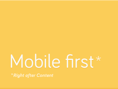 Opinion mobile content first responsive bariol