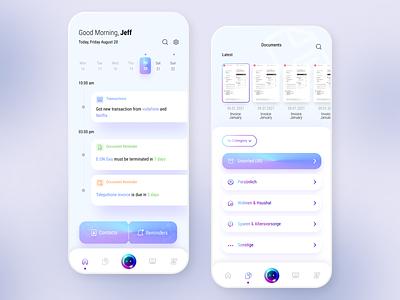 To do list app design app document finance ux ui clean light design list tasks habits productivity to do list