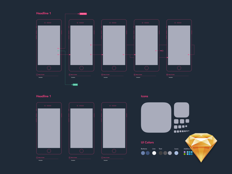 Diagram template .sketch file