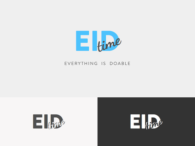 EID Time Logo Design eid time logo design eidtime eid black and white logo