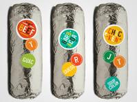 Go Loco Burrito Stickers