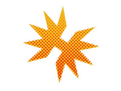 Haymaker Logo logo h halftone