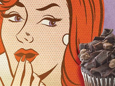 Chocolate Affair Poster Detail vintage comic