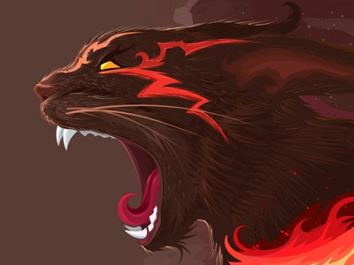 Devil's Cat vector hell adobe illustrator illustration devils cat cat