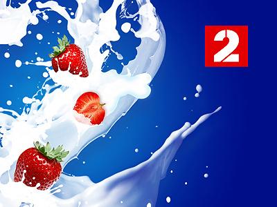 Packshot concept illustration photoshop packshot milk