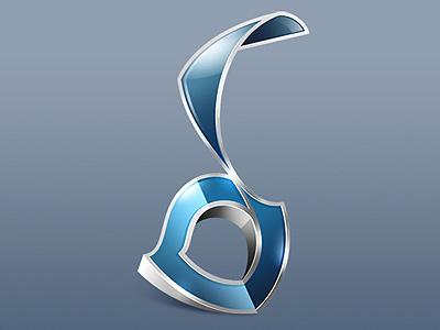 Logotype for «Biopack» version 1 logo glass photoshop