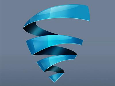 Logotype for «Biopack» version 2 logo glass photoshop