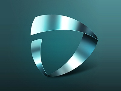 Logotype for «Biopack» final version logo glass photoshop