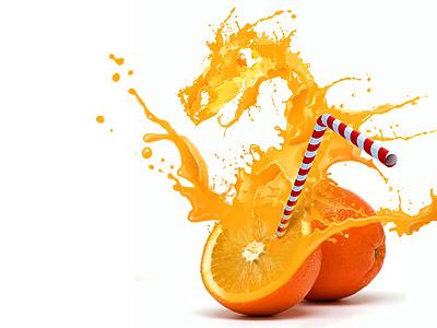 Orange Dragon illustration photoshop