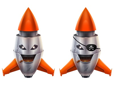 Rockets illustration mascot photoshop