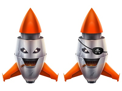 Rockets illustration mascot photoshop