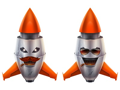 Rockets 2 illustration mascot photoshop