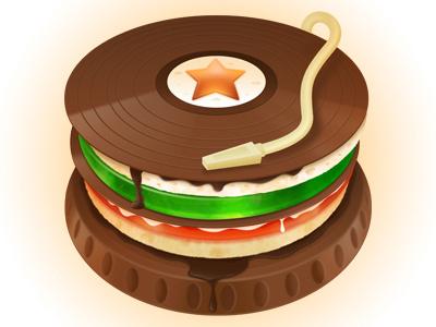 Dj Cake illustration photoshop cake chocolate