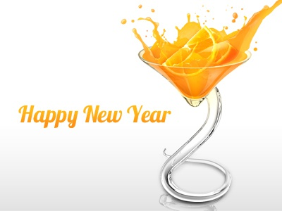 Orange Сocktail illustration photoshop orange cocktail new year
