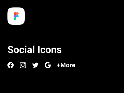 Social Icons in Figma 2020 vector branding app icon linkedin pinterest snapchat youtube apple twitter google instagram facebook figma icons social