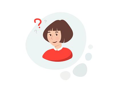 FAQ Illustration 2019 icon faqs uxresearch branding web vector ui  ux design ui-ux illustrator identity flat art questions qa question faq illustration