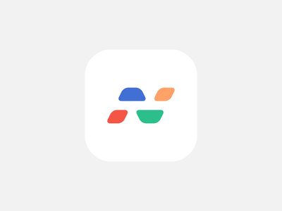 N Logo Exploration 2 2019 green red yellow blue vector icon a day logo identity icon app icon branding