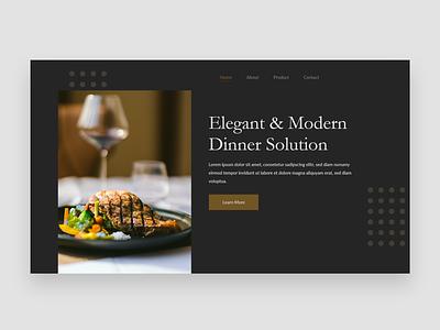 Elegant Web Design Concept website concept website design dinning website design user experience design ui ux ui design ui user interface design elagant web design