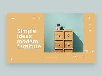 Furniture Website UI design Concept website concept website design user interface design ui ux ui design ui furniture website design trends simple website design minimal website design furniture website design