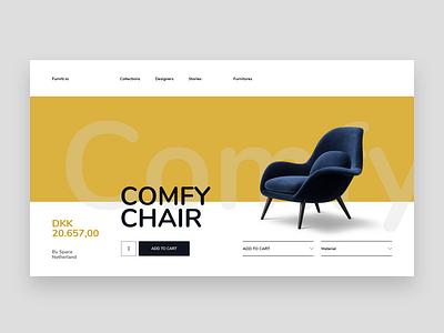 Furniture Website Design Concept website concept website design user interface design ui ux ui design ui furniture website design furniture template design