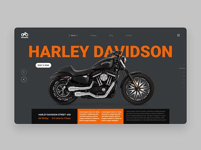 Harley Davidson Website Design Concept landing page website concept user interface design ui ux ui design ui website design website redesign