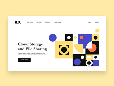 Cloud Storage Website Design Concept website designer website user experience design website concept landing page website design user interface design ui ux ui design ui