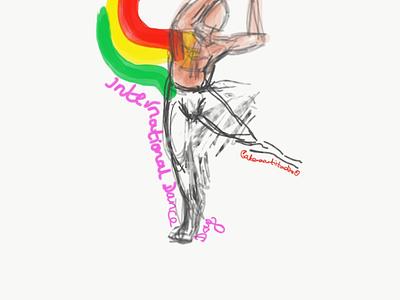 International Dance Day (Zoom) fluid flow movement illustration illustraion dancer dance
