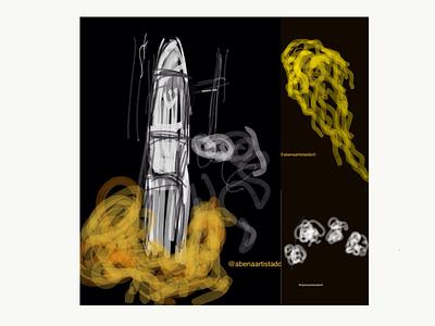 Lift Off education learning branding illustration childrens illustration sketch womensart blackart astronauts astronaut space