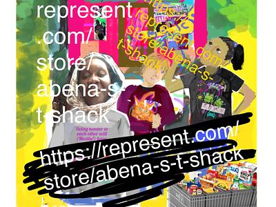 Abena's T Shack Advert diverse cool funky ad flyer website t t shirt