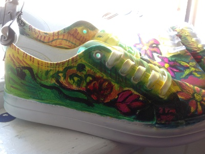 Painted Sneaker 1 trainers sneakers fashion illustration fashion youth urban design urban art floral graffiti design font typography