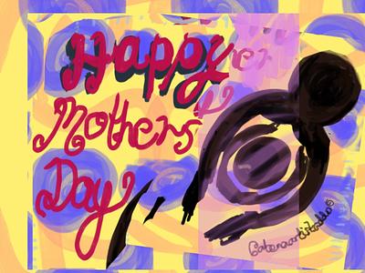Mother Of Mine mothers day flyer mothers day mothersday color colour blackart african art childrens illustration illustration design