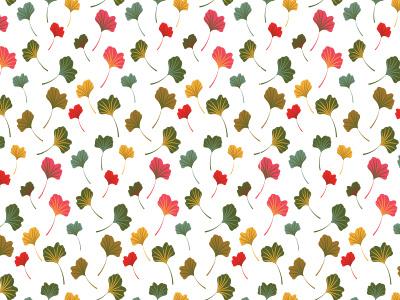 Ginkgo Leaves ginkgo leaves pattern design flowers fall vector pattern