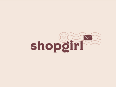 Shopgirl typography vector love letters letter stamp kathleen kelly youve got mail shopgirl logo