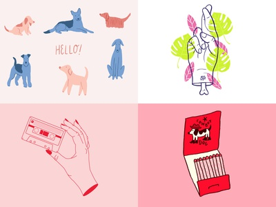 2018 - dogs, pink and hands