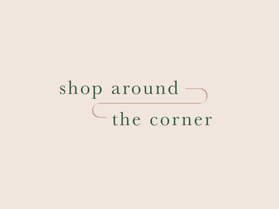 Shop Around the Corner Logo shop youve got mail bookstore logo design logo vector